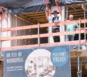 Pluspunkt Perlach feiert Richtfest